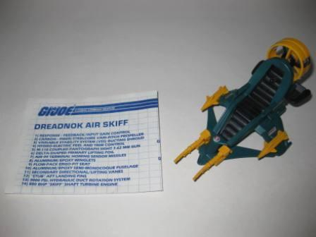 Dreadnok Air Skiff (1987) w/ Inst - G.I. Joe